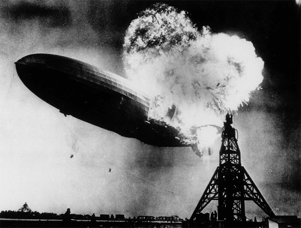 El accidente del dirigible Hindenburg