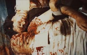 Retrato post mortem de Mussolini (28 de abril, 1945)