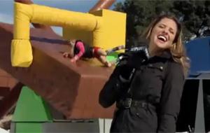 Taylor Wane se humilla en el programa Wipeout