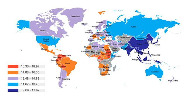 mapa mundial tamaño penes