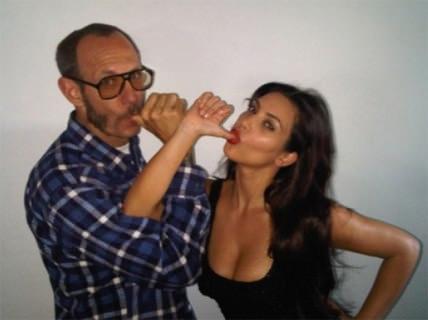 Kim Kardashian y Terry Richardson