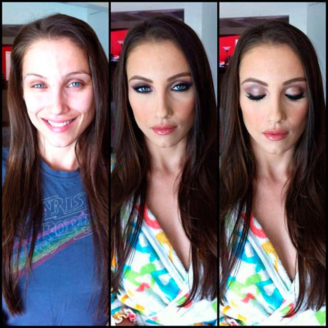 Celeste Star sin maquillaje