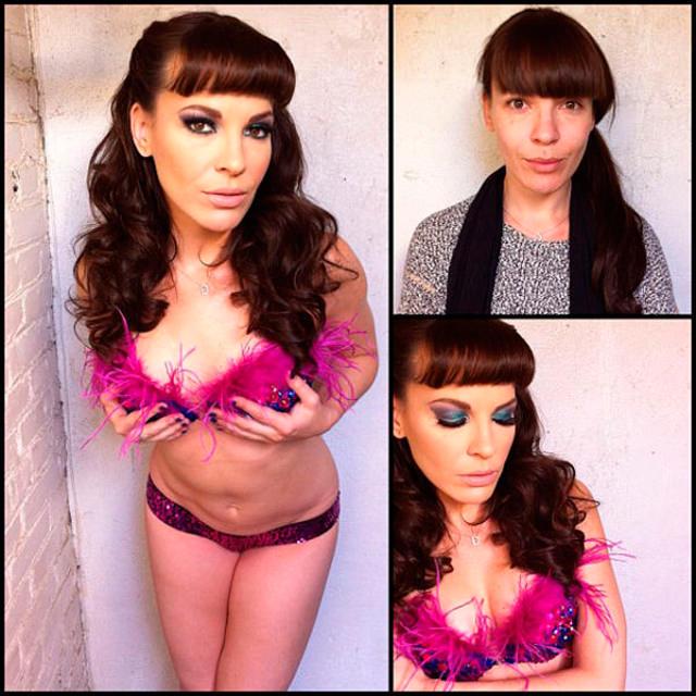 Dana Dearmond sin maquillaje