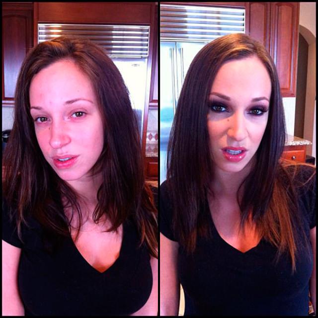 Jada Stevens sin maquillaje