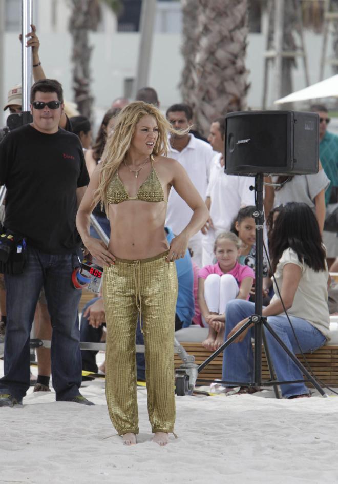 Shakira graba videoclip en Barcelona